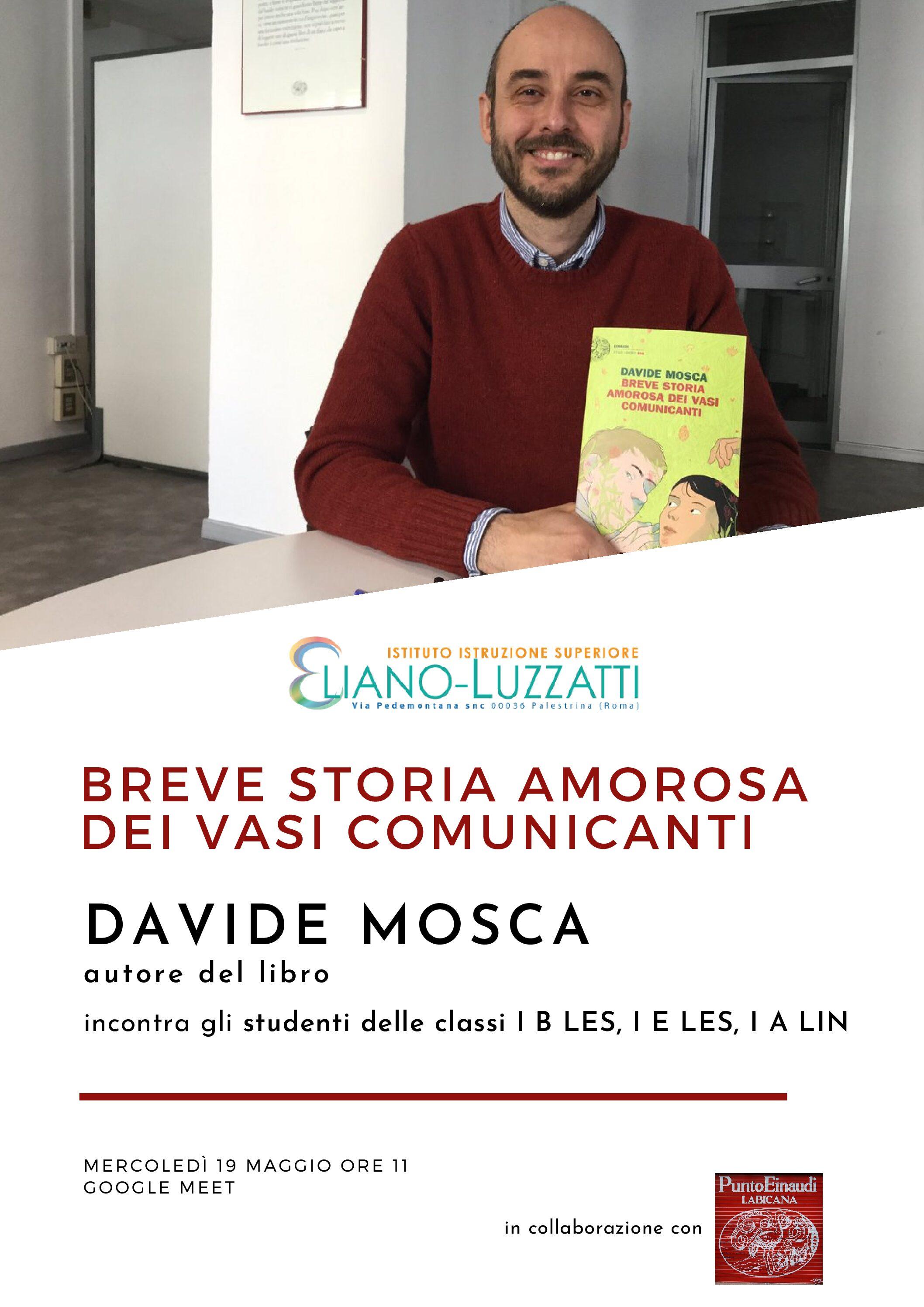 Davide Mosca in Breve storia amorosa dei vasi comunicanti